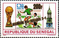 [West Germany's Victory in the Football World Cup - West Germany - Stamps of 1974 Surcharged