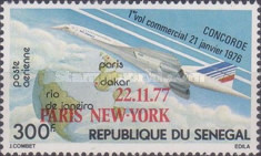 [Airmail - The 1st Paris-New York Commercial Flight of Concorde - Overprinted