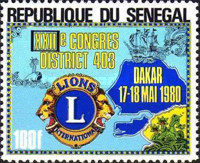 [The 22nd Congress of Lions' Club District 403, Dakar, Typ UB]