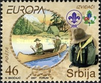 [EUROPA Stamps - The 100th Anniversary of Scouting, type BQ]