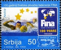 [The 100th Anniversary of Fédération Internationale de Natation, FINA, type DF]