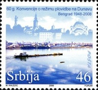 [The 60th Anniversary of the Danube Navigation Convention, type EK]
