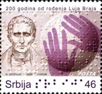 [The 200th Anniversary of the Birth of Louis Braille, type EO]