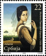 [The 100th Anniversary of the Birth of Painter Milena Pavlovic Barili, 1909-1945, type FO]