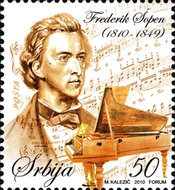 [The 200th Anniversary of the Birth of Frederic Chopin, 1810-1849, type HH]