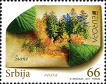 [EUROPA Stamps - The Forest, type JR]