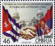 [The 70th Anniversary of Diplomatic Relations with Cuba - Joint Issue, type NU]