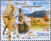 [EUROPA Stamps - Musical Instruments, type PG]