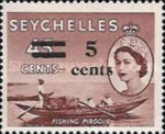 [Issue of 1954 Surcharged 5 Cents and Bars, Typ AS]