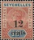 [Issues of 1890 Surcharged, type B1]