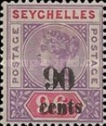 [Issues of 1890 Surcharged, type B4]