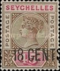 [Queen Victoria New Values Stamp of 1893 Surcharged, type C]