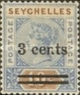 [Queen Victoria Surcharged, type E1]