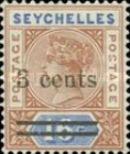 [Queen Victoria Surcharged, type E2]