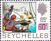 [Previous Stamps Surcharged, type EH]