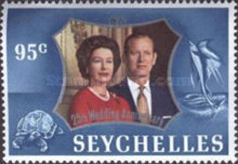 [The 25th Anniversary of the Wedding of Queen Elizabeth II and Prince Philip, type EV]