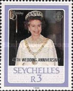 [The 40th Anniversary of the Wedding of Queen Elizabeth II and Prince Philip - Issues of 1986 Overprinted