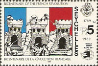 [The 200th Anniversary of French Revolution and International Stamp Exhibition