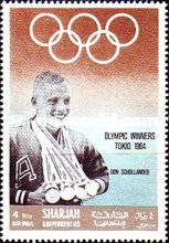 [Airmail - Athlete and Gold Medal Winner, type QA]