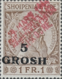 [Albanian Stamps of 1914 Overprinted in Red, Typ A6]