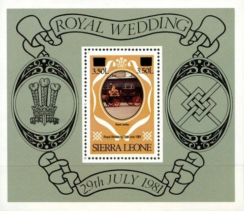 [Royal Wedding of Prince Charles and Lady Diana Spencer - Issues of 1981 Surcharged, Typ ]