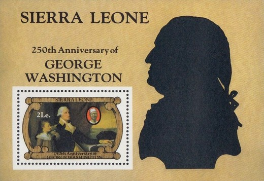 [The 250th Anniversary of the Birth of George Washington, 1732-1799, Typ ]