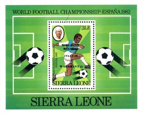 [Football World Cup Winners - Issues of 1982 Overprinted