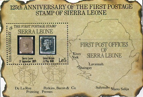 [The 125th Anniversary of First Postage Stamps, Typ ]