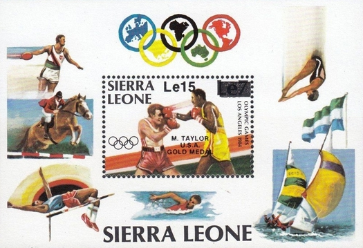 [Olympic Games Gold Medal Winners - Los Angeles, USA - Issues of 1984 Overprinted and Surcharged, Typ ]