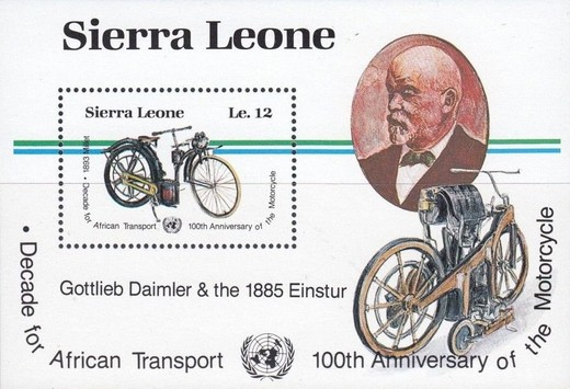 [The 100th Anniversary of Motorcycle and Decade for African Transport, type ]