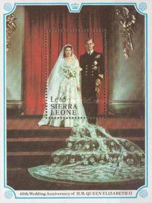 [The 40th Anniversary of the Wedding of Queen Elizabeth II and Prince Philip, Typ ]