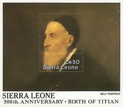 [The 500th Anniversary of the Birth of Titian, 1488-1576, Typ ]