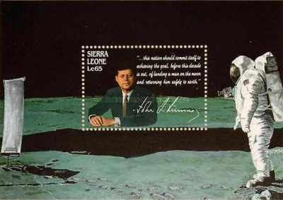 [The 25th Anniversary of the Death of John F. Kennedy (American Statesman), 1917-1963 - U.S. Space Achievements, type ]