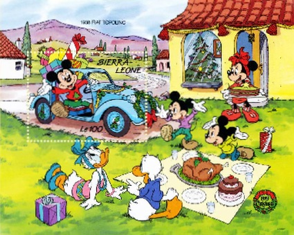 [Christmas - Walt Disney Cartoon Characters with Cars, Typ ]