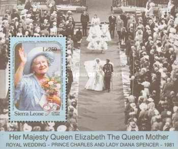 [The 90th Anniversary of the Birth of Queen Elizabeth the Queen Mother, 1900-2002, Typ ]