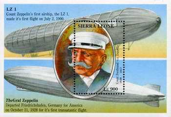[The 75th Anniversary of the Death of Count Ferdinand von Zeppelin (Airship Pioneer), 1838-1917, Typ ]
