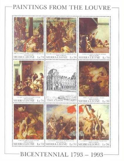 [The 200th Anniversary of the Louvre, Paris - Paintings by Delacroix, Typ ]
