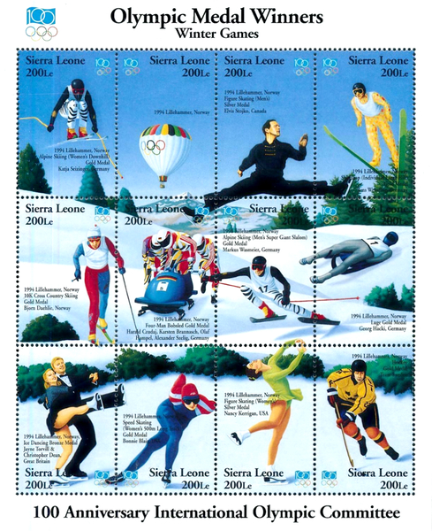 [The 100th Anniversary of International Olympic Committee - Medal Winners, Typ ]