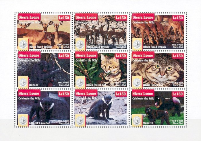 [The 100th Anniversary (1992) of Sierra Club (Environmental Protection Society) - Endangered Species, Typ ]