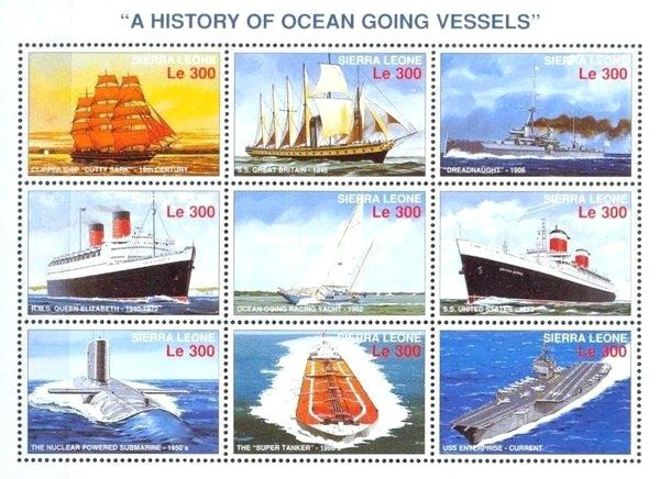 [History of Ships, Typ ]