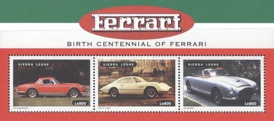 [The 100th Anniversary of the Birth of Enzo Ferrari, Typ ]