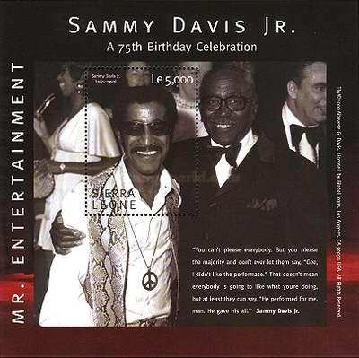 [The 75th Anniversary of the Birth of Sammy Davis Jr. (American Entertainer), 1925-1990, Typ ]