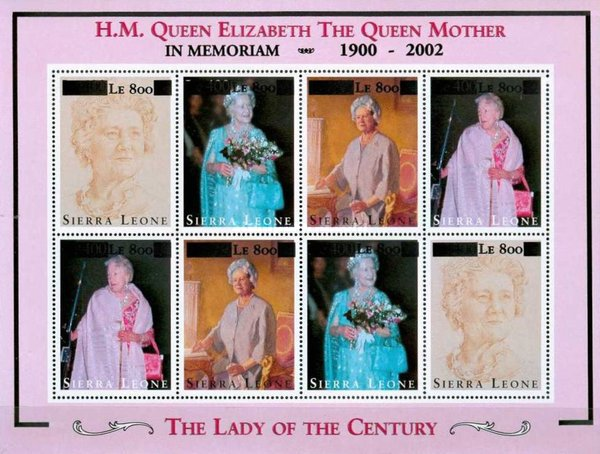 [Queen Elizabeth the Queen Mother Commemoration - Issues of 1995 Surcharged, Typ ]