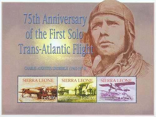 [The 75th Anniversary of First Solo Transatlantic Flight, by Charles Lindbergh, Typ ]
