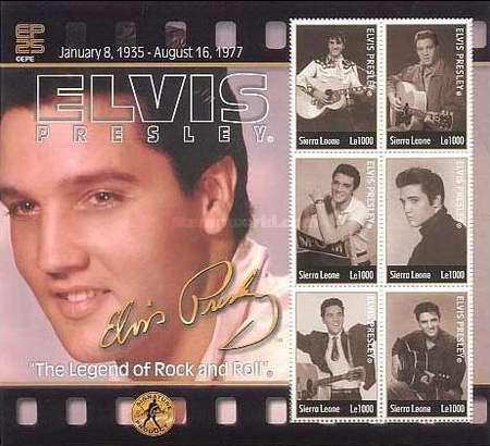 [The 25th Anniversary of the Death of Elvis Presley (American Entertainer), 1935-1977, Typ ]