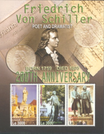 [The 200th Anniversary of the Birth of Friedrich von Schiller, 1759-1805, Typ ]