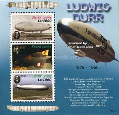 [Zeppelins - The 50th Anniversary of the Death of Ludwig Dürr, 1878-1956, Typ ]