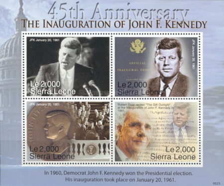 [The 45th Anniversary of the Election of J. F. Kennedy, 1917-1963, Typ ]