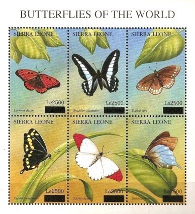 [Butterflies - Issue of 1997 Surcharged, Typ ]