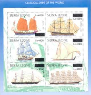 [Ships - Issue of 1998 Surcharged, Typ ]